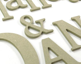 """15cm/6"""" wooden letters and numbers for DIY craft projects"""