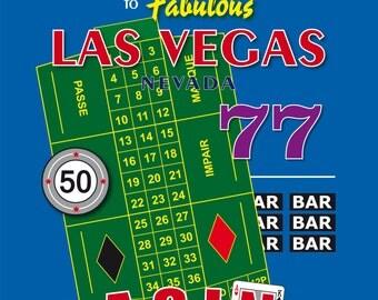Las Vegas Poker Casino Art Print Poster Decoration