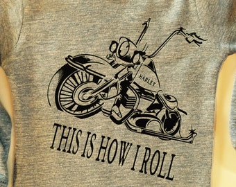 Baby Onsie - Motorcycle - This is How I Roll