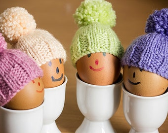 Knitted Egg Cosies in Summer Colours, set of 4, Easter Egg Cosy, egg warmers