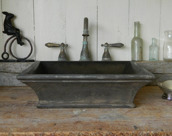Vessel Sink - Classical Cove Concrete Sink with Cast Iron-Style Finish