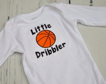 Little Dribbler Basketball Outfit - Baby Boy - Baby Girl - Bodysuit - Basketball Team