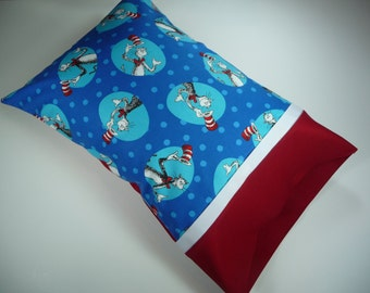 Dr. Seuss/Travel Pillow OR Toddler Pillow/Pillowcase/ Personalized