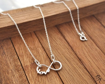 Sterling Silver Infinity Necklace, Infinity Charm Necklace, Tiny Infinity, Silver Infinity, Infinity Pedant, Little Infinity, Infinity,