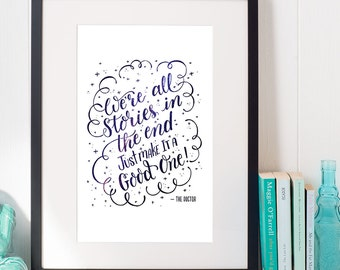8 x 10 Doctor Who Quote Print  |  Hand lettering Print  |  Doctor Who Fan Art