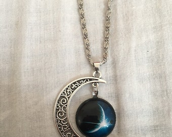 Intergalactic moon necklace