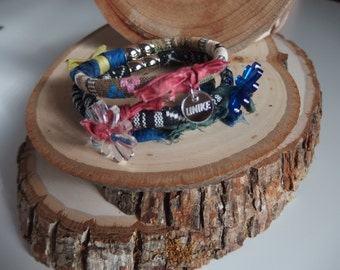 wrapping bracelet. Set of three pieces