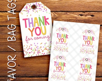 Sprinkle favor tags, gift tags, thank you tags. Instant Download.
