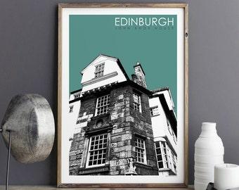 Edinburgh Art Print - Travel Print - City Prints - Edinburgh Gift - Architectural Print - Large Wall Art Prints - A3 Prints - A2 Prints