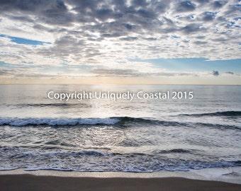 Ocean Water Beach Photography Sunrise Boca Raton Florida Print Photo