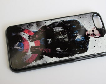 Custom Printed marvel comic character Captain America Apple iphone 4 4s 5 5s 5c 6 6s 6 6s+ plus case cover
