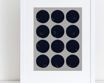 Constellation Astrology Art Print, Zodiac, Horoscope Print