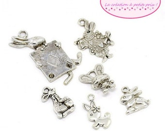 30 charms Theme Easter rabbits