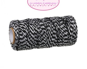 100 m coil Twine Baker's Twine Style black and white