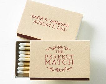 THE PERFECT MATCH Laurel Wreath Matchboxes - Wedding Favor, Wedding Decor, Wedding Matches, Bridal Shower Favor, Custom Favor, Match Box