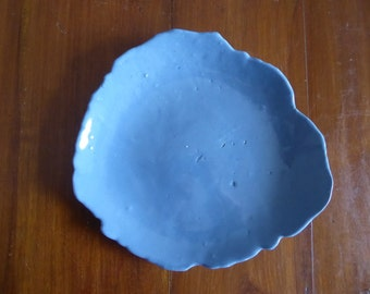 Blue platter, salad bowl, serving bowl,