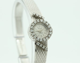 Diamond White Gold Watch (SKU511)