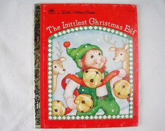 The Littlest Christmas Elf – Vintage Children's Little Golden Book – 459-12