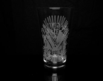 Game of Thrones Iron Throne Pint Glass