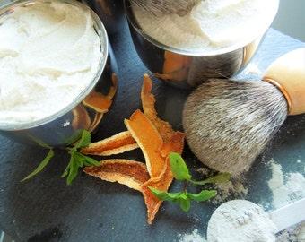 Shaving Soap w/Cup & w/Badger Brush