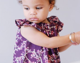 Fall Clothing, Fall Dress, Girl Floral Dress, Toddler Girls Dress, Floral Baby Dress, Girls Purple Dress, Baby Girl Dress, Fall Floral Dress