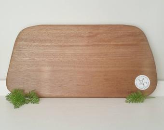 Natural hardwood chopping board