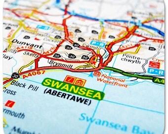 Swansea Map Coasters