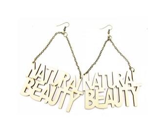 Wooden Earrings - Natural Beauty