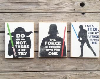 Star Wars Distressed Signs