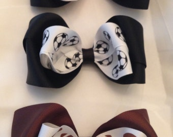 SPORTS Themed Boutique Hair Bows OR Headbands