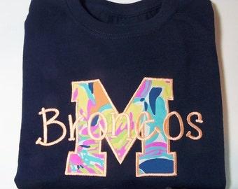 Monogram Shirt, Lilly Pulitzer Monoram Shirt, Long Sleeve Monogram Shirt
