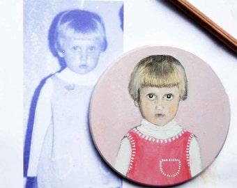 Custom portrait, custom painting on wood