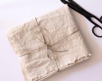 Hemp & Organic Cotton Unbleached Fabric - Prewashed