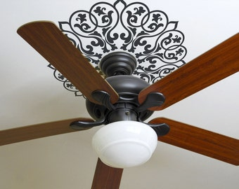 Ornate Mandala Graphic for Ceiling Fan or Circular Shape Wall Features Vinyl Decal ~ Item 0446