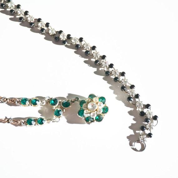 Vintage Lot of Rhinestone Jewelry Necklace and bracelet