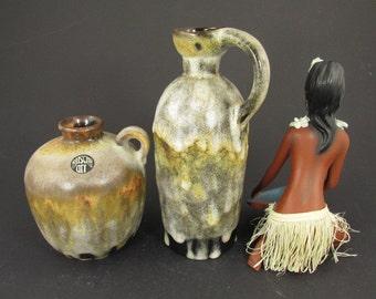 SALE Vintage ceramic set of two vases / Ruscha (art) | West German Pottery | 60s