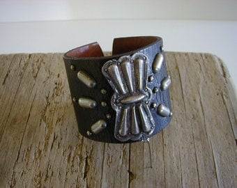 Antique Navajo Silver Butterfly Cuff