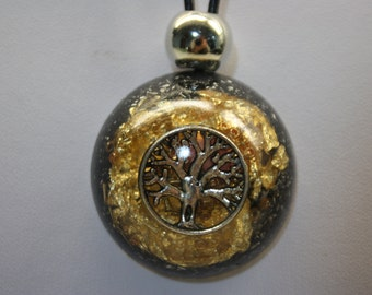 Tree of life Powerful Orgone Pendant, EMF protection from Radiation, Healing energy 1,5 inch or 38 mm