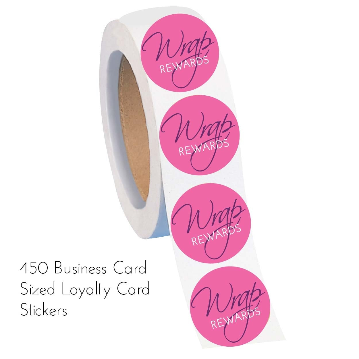 450 business card sized jammin39 wrap reward stickers for Business cards stickers