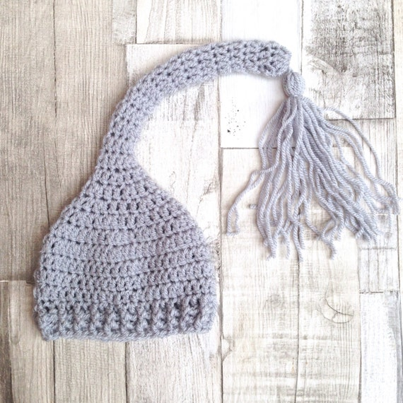 Crochet grey hat, Grey baby hat, Pixie hat, Newborn hat, Pixie hat,Unisex hat, Newborn baby, Baby gift, 0-3 3-6, Grey hat, Photo prop