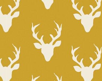 SALE!! KNIT 1/2 Yard Hello, Bear by Art Gallery Fabrics- Buck Forest Mustard 4434-5