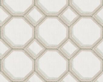 New Pattern, Curtains, Custom Panels, Embroidery, Geometric Design, Lattice, Fretwork, Contemporary *Octogon*