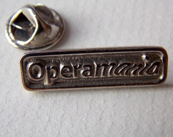 Operamania Silver Metal Pin Brooch Operamania Badge