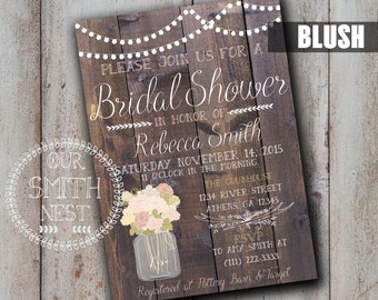 Vintage Blooms Bridal Shower Invitation DIY PRINTABLE Customizable Digital Print Fall Bridal Shower Vintage Rustic Autumn Seasonal