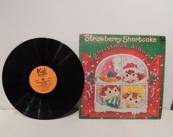 Vintage Strawberry Shortcake Christmas Album LP Disc  American Greetings 1980 Kid Stuff Records