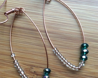 Rose Gold Plated 925 Silver Chandelier Bead Earrings Perfect Pastel