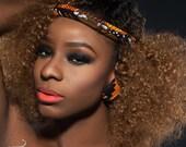 Kente and African Wax Print Headband - African Headband - Africain Fabric Headband -kente Headband