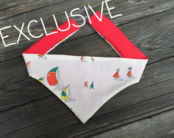 EXLUSIVE! Cream Sailboats Bandana (tie)
