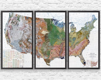 Beer Map USA Print Husband Gift Beer Art Gift For Him US - Us beer map wall art