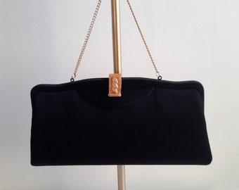 Vintage Black Evening Bag.